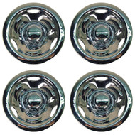 "10"" Deep Dish Chrome Wheel Covers - Set of Four"
