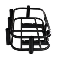Madjax Golf Cart Cooler and Rod Holder Rack - Hitch Mounted