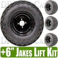 "10"" Black Steel Wheels and Predator Tire Lifted Combo"