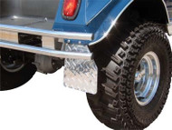 Club Car DS - Diamond Plate Mud Flaps (1983-Up)