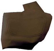 Club Car DS - Vinyl Seat Bottom Cover - Black (2000.5-Up)