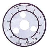 Club Car - 12 Hour Timer Decal for Manual Charger - Lestermatic