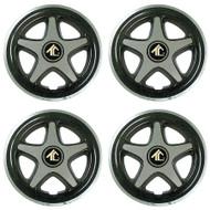 "8"" Star 5 Spoke - Black And Chrome Wheel Covers (Set of 4)"