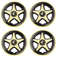 "8"" Star 5 Spoke - Gold And Black Wheel Cover (Set of 4)"
