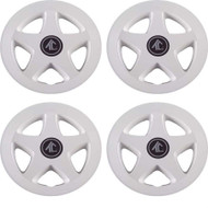 "8"" Star 5 Spoke - White Wheel Cover (Set of 4)"