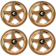 "8"" Star 5 Spoke - Gold Plated Wheel Cover (Set of 4)"