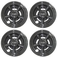 "8"" SS Style - Black Chrome Wheel Cover (Set of 4)"
