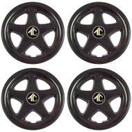 "8"" Star 5 Spoke Black Wheel Cover (Set of 4)"