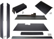 Club Car DS (Black) Diamond Plate Accessory Kit w/ Floor