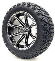 14'' Element Machined/Black Wheel and X-Trail Tire | Choose Lift Kit Combo