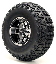 "10"" Apex Machined/Black Wheel and X-Trail Tire 