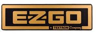 EZGO TXT Gold Name Plate