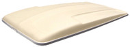 Golf Cart Top Canopy | 80 Inch Beige with Aluminium trim
