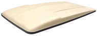 Golf Cart Top Canopy | 80 Inch Beige with Black Trim