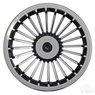 "8"" RHOX  Turbine Style Cart Wheel Cover in Black and Silver"