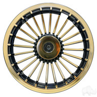 "8"" RHOX Turbine Style Golf Cart Wheel Cover in Gold"