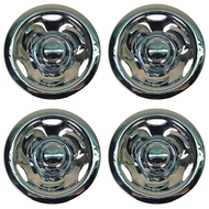 "8"" Deep Dish Style Chrome Wheel Covers - Set of 4"
