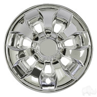 "8"" RHOX Driver Style Golf Cart Wheel Cover in Chrome"
