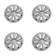 "8"" Chrome 9 Spoke Golf Cart Wheel Covers - Set of 4"