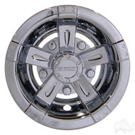 "8"" RHOX Chrome Vegas Style Golf Cart Wheel Cover"