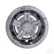 "10"" RHOX  Vegas Style Golf Cart Wheel Cover in Chrome"