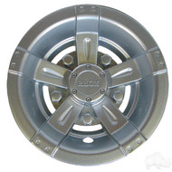 "8"" RHOX  Vegas Style Golf Cart Wheel Cover in Silver"