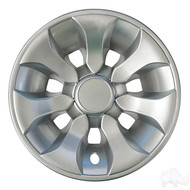 "8"" RHOX  Driver Golf Cart Wheel Cover In Silver"