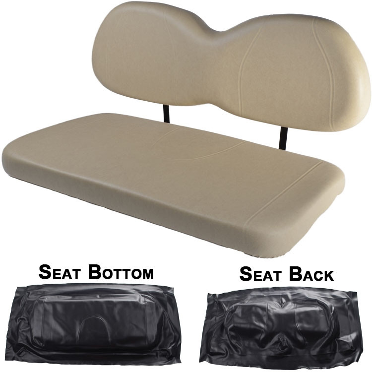 club car precedent replacement front seat black cushions diy golf cart has low prices on. Black Bedroom Furniture Sets. Home Design Ideas