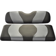 Madjax Two-Tone Front Seat Covers - Black/Carbon Fiber