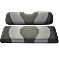 Madjax Two-Tone Front Seat Covers - Black/Carbon Fiber