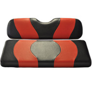 MadJax Two-Tone Front Seat Covers - Black/Red