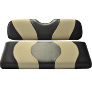 Madjax Two-Tone Front Seat Covers - Black/Tan