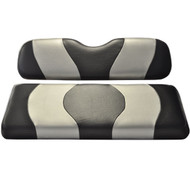 Madjax Two-Tone Front Seat Covers - Black/Silver