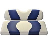 Madjax Two-Tone Front Seat Covers - White/Blue