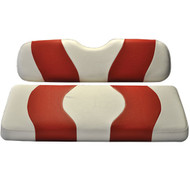 Madjax Two-Tone Front Seat Covers - White/Red