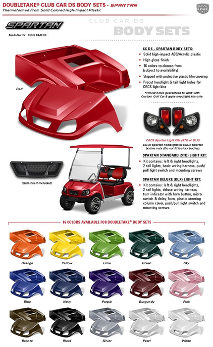 Double Take Club Car Ds  U0026quot Spartan U0026quot  Body Kit