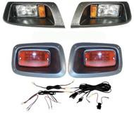 EZGO TXT (BLACK) headlight & LED tail light kit '96-Up