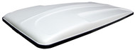 Golf Cart Top Canopy | 80 Inch White with Black Trim