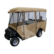 "Universal Deluxe 4-Sided Golf Cart Enclosure for 80"" Roofs"