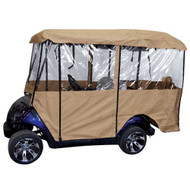"Universal Deluxe 4-Sided Golf Cart Enclosure for 88"" Roofs"