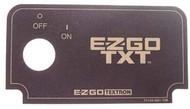 Key Switch Decal EZGO Medalist TXT