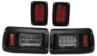 Club Car DS Complete LED Headlight and Tail Light Kit - Adjustable