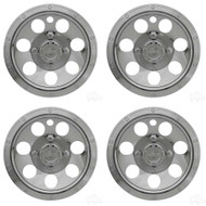 "8"" Beadlock Style Chrome Golf Cart Wheel Cover - Set of 4"