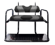 MadJax Two-Tone Black/Carbon Fiber Rear Flip Seat Kit