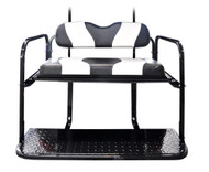 MadJax Two-Tone Black/White Rear Flip Seat Kit