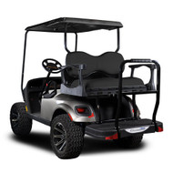 Madjax Genesis 300 EZGO Rear Flip Seat - Aluminum Frame - Choose Your Cart Model, Cushion, and Color