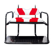 MadJax Two-Tone White/Red Rear Flip Seat Kit