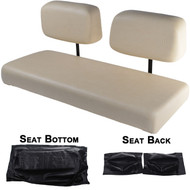 Club Car DS 1982-2000.5 Replacement Front Seat - Black Cushions