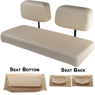 Club Car DS 1982-2000.5 Replacement Front Seat - Buff Cushions