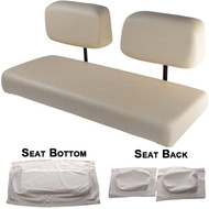Club Car DS 1982-2000.5 Replacement Front Seat - White Cushions